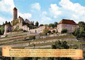 AK / Ansichtskarte Neckarzimmern Burg Hornberg am Neckar Kat. Neckarzimmern