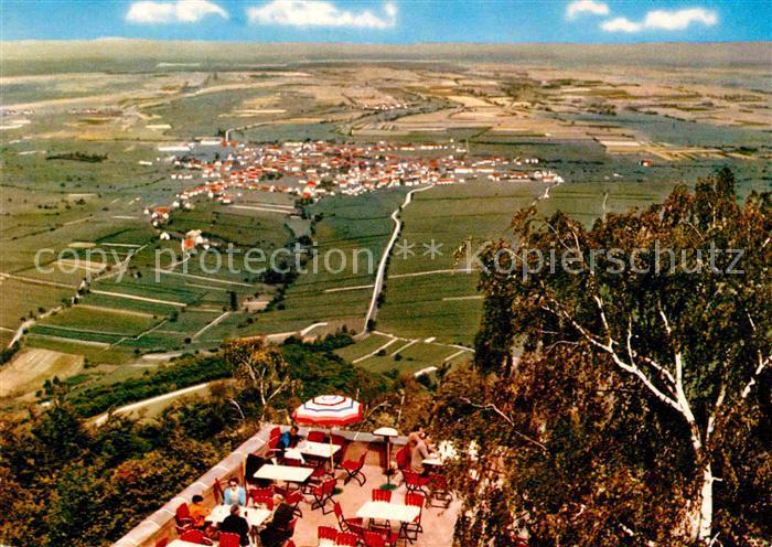 AK / Ansichtskarte Edenkoben Fliegeraufnahme mit Aussichtsterrasse Kat. Edenkoben