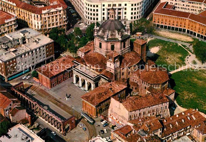 AK / Ansichtskarte Milano Basilica di San Lorenzo Fliegeraufnahme Kat. Italien