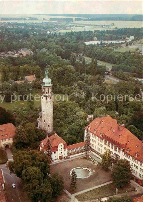AK / Ansichtskarte Arnstadt Ilm Schlossruine Neideck und Neues Palais Fliegeraufnahme Kat. Arnstadt
