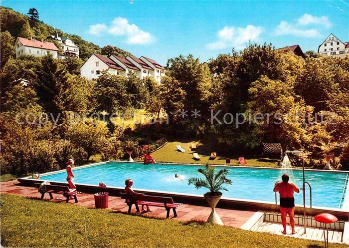 AK / Ansichtskarte Lindenfels Odenwald Haus Karina Schwimmbad Kat. Lindenfels