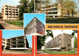 AK / Ansichtskarte Dessau Rosslau Bauhaus Atelierhaus Fachschultrakt Werkstaette Haupteingang Bauhaus Suedansicht Kat. Dessau Rosslau