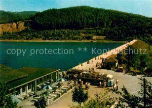 AK / Ansichtskarte Osterode Harz Sosetalsperre Gaststaette Restaurant Vogelsangbetriebe Kat. Osterode am Harz