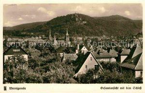AK / Ansichtskarte Wernigerode Harz Gesamtansicht mit Schloss Kat. Wernigerode