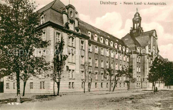 AK / Ansichtskarte Duisburg Ruhr Neues Land  Amtsgericht  Kat. Duisburg