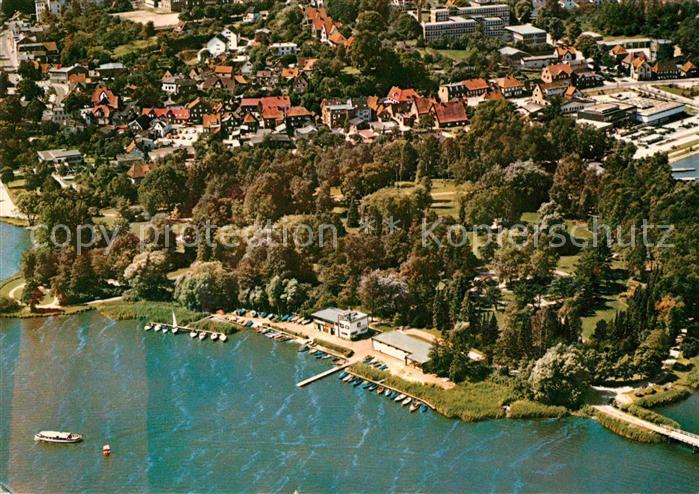 AK / Ansichtskarte Eutin Fliegeraufnahme Rostenstadt Partie am Wasser Kat. Eutin
