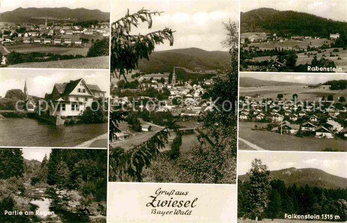 AK / Ansichtskarte Zwiesel Niederbayern Landschaftspanorama Partie am Regen Rabenstein Falkenstein Bayerischer Wald Kat. Zwiesel