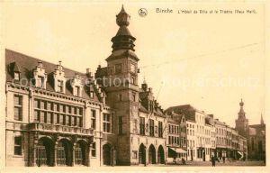 AK / Ansichtskarte Binche Hainaut Hotel de Ville Theatre Kat.