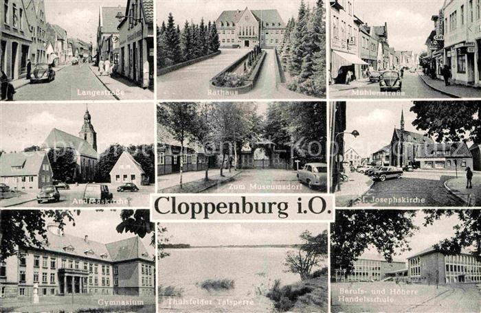 AK / Ansichtskarte Cloppenburg Rathaus Handelsschule Gymnasium  Kat. Cloppenburg