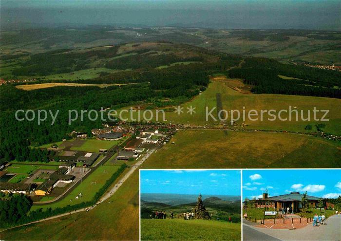 AK / Ansichtskarte Wasserkuppe Rhoen Berg Segelflieger Fliegerdenkmal Kat. Poppenhausen (Wasserkuppe)