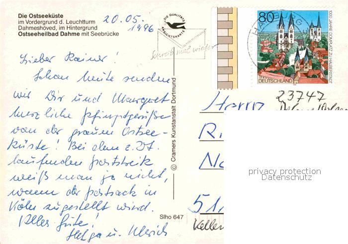 AK / Ansichtskarte Dahme Ostseebad Fliegeraufnahme mit Leuchtturm  Kat. Dahme 1