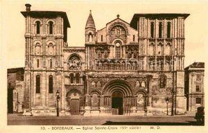 AK / Ansichtskarte Bordeaux Eglise Sainte Croix VIe siecle Kirche Kat. Bordeaux