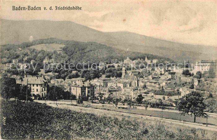 AK / Ansichtskarte Baden Baden Blick von der Friedrichshoehe Kat. Baden Baden