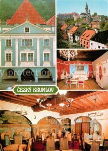 AK / Ansichtskarte Cesky Krumlov Interhotel Krumlov Zamek Hotelovy pokoj Vinama Kat. Krumau
