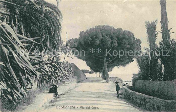 AK / Ansichtskarte Bordighera Via del Capo Kat. Bordighera