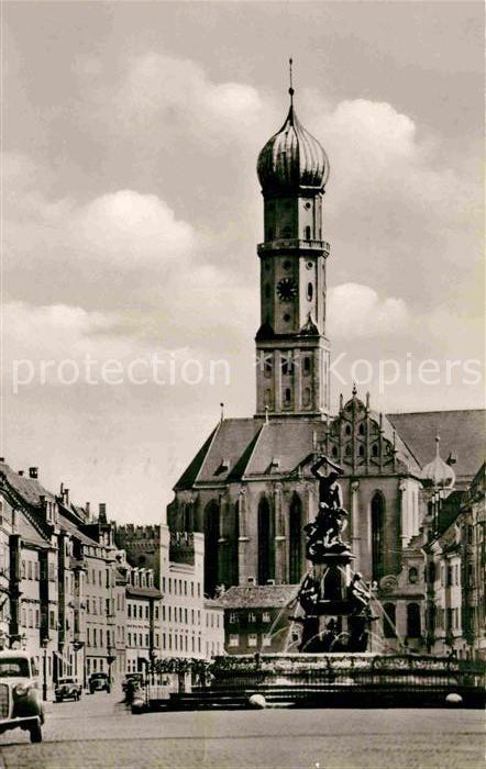 AK / Ansichtskarte Augsburg Ulrichmuenster mit Herkulesbrunnen Kat. Augsburg