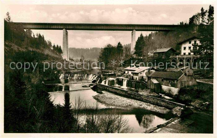 AK / Ansichtskarte Mang St Mangfallbruecke Reichsautobahn Muenchen Landesgrenze Kat. Kempten (Allgaeu)