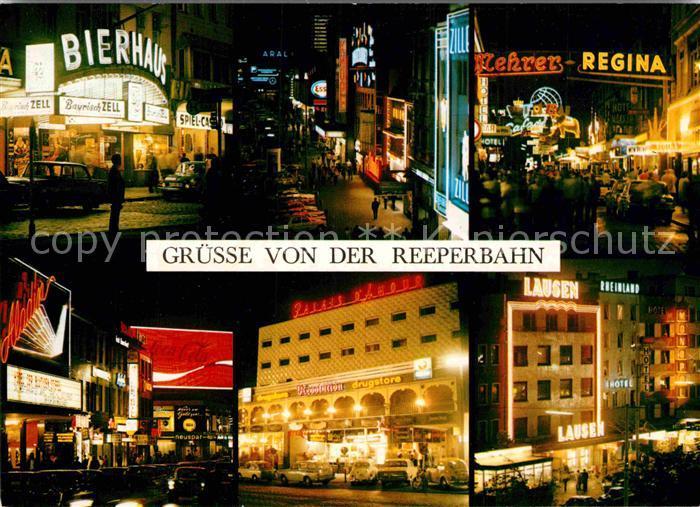 AK / Ansichtskarte Hamburg St. Pauli Reeperbahn bei Nacht Kat. Hamburg
