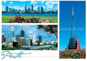AK / Ansichtskarte Perth Western Australia Skyline Swan Bells  Kat. Perth