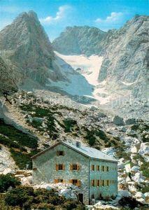 AK / Ansichtskarte Blaueishuette Blauelsspitze Hochkalter Blaueisgletscher  Kat. Hochkalter Ramsau