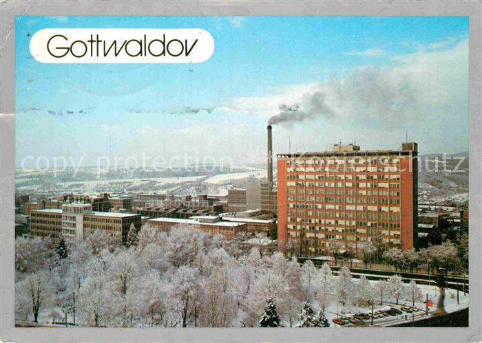 AK / Ansichtskarte Gottwaldov Tschechien Teilansicht  Kat. Zlin