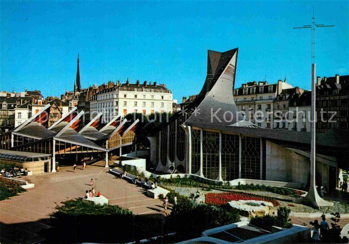 AK / Ansichtskarte Rouen Place du Vieux Marche et Eglise Sainte Jeanne d. Arc Kat. Rouen