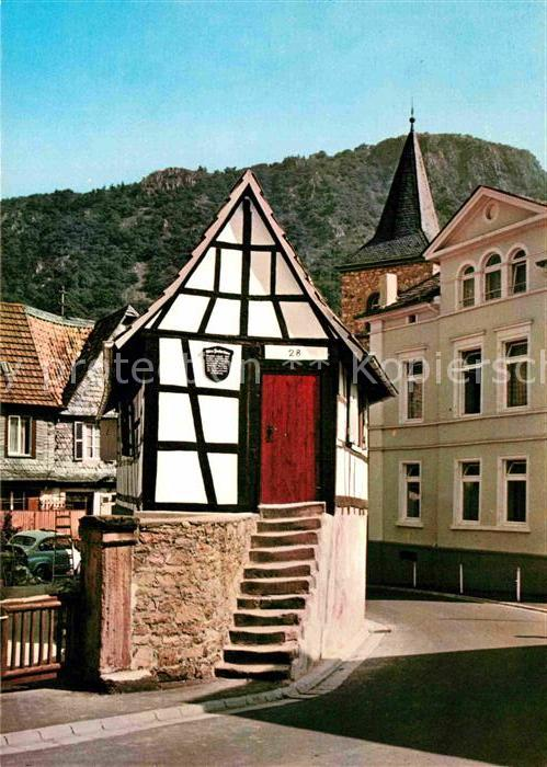 Altes Fischerhaus ak ansichtskarte bad muenster stein ebernburg altes fischerhaus