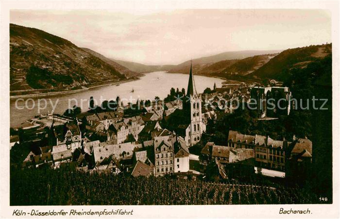 AK / Ansichtskarte Bacharach Rhein Panorama Kat. Bacharach 0