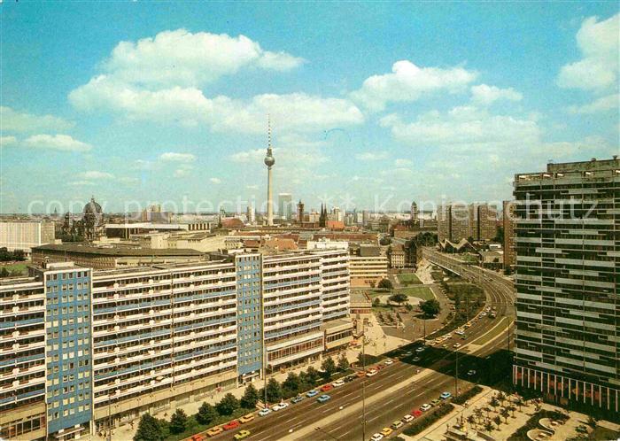 AK / Ansichtskarte Berlin Leipziger Strasse mit Fernsehturm Dom  Kat. Berlin
