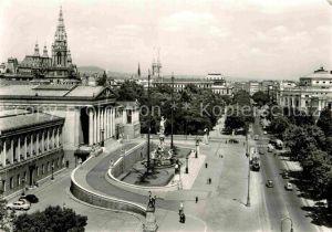 AK / Ansichtskarte Wien Ringstrasse mit Parlament und Rathaus Kat. Wien