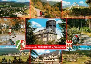 AK / Ansichtskarte Astenturm Hochsauerland Ruhrquelle Winterberg Lennequelle Altastenberg  Kat. Winterberg