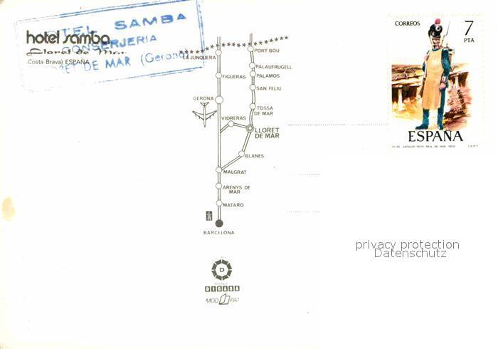 AK / Ansichtskarte Costa Brava Hotel Samba  Kat. Spanien 1