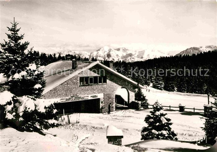 AK / Ansichtskarte Aix les Bains Mont Revard Chalet des Sports et la chaine du Mont Blanc Sports d hiver Kat. Aix les Bains