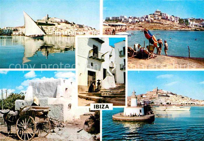 AK / Ansichtskarte Ibiza Islas Baleares Strand Gasse Eselswagen Kat. Ibiza