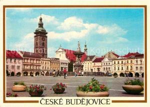 AK / Ansichtskarte Ceske Budejovice Zizkovo namesti Platz Denkmal Kat. Budweis Ceske Budejovice