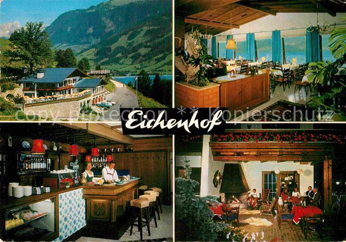 AK / Ansichtskarte Zell See Cafe Restaurant Eichenhof Kat. Zell am See