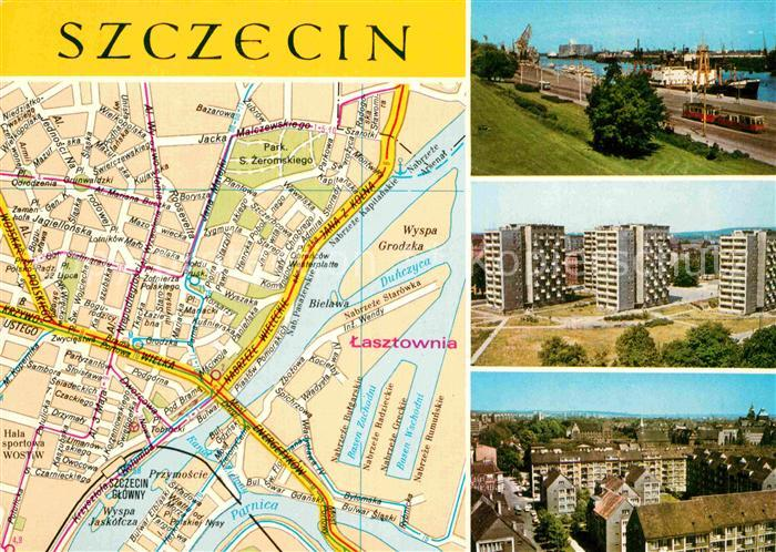 AK / Ansichtskarte Szczecin Panorama Kat. Szczecin Stettin
