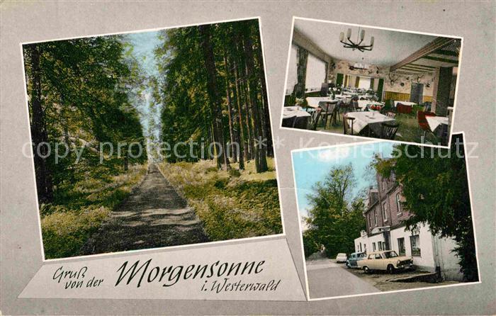 Ak Ansichtskarte Hachenburg Westerwald Restaurant