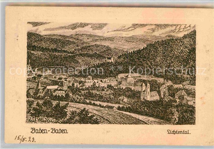 AK / Ansichtskarte Baden Baden Lichtental Kat. Baden Baden
