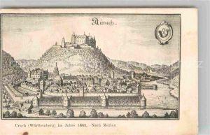 AK / Ansichtskarte Urach Bad Merian 1663 Schloss  Kat. Bad Urach