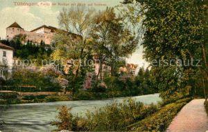 AK / Ansichtskarte Tuebingen Neckarpartie mit Schlossblick Kat. Tuebingen