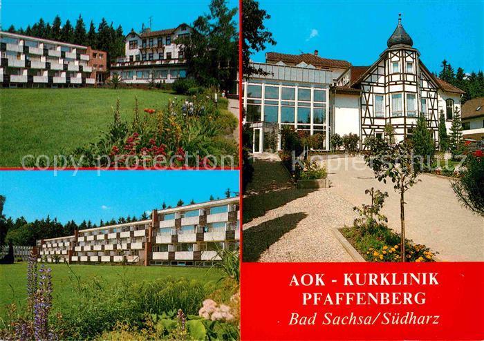 AK / Ansichtskarte Bad Sachsa Harz AOK Kurklinik Pfaffenberg Kat. Bad Sachsa