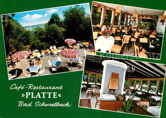 AK / Ansichtskarte Bad Schwalbach Cafe Restaurant Platte Terrasse Kat. Bad Schwalbach