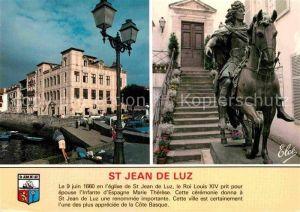 AK / Ansichtskarte Saint Jean de Luz Maison de l Infante Statue de Louis XIV Kat. Saint Jean de Luz