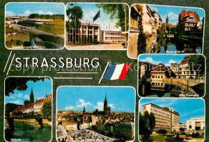 AK / Ansichtskarte Strassburg Elsass Muenster Europarat Klein Frankreich Ill Europabruecke  Kat. Strasbourg