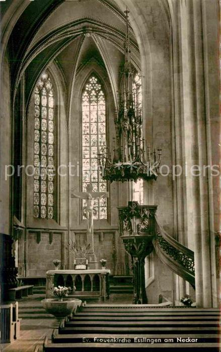 AK / Ansichtskarte Esslingen Neckar Frauenkirche Inneres Kat. Esslingen am Neckar