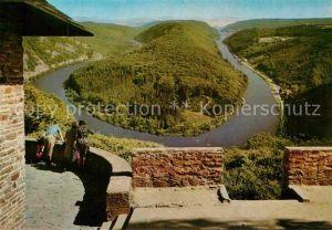 AK / Ansichtskarte Orscholz Panorama Blick zur Saarschleife vom Aussichtspunkt Cloef Kat. Mettlach