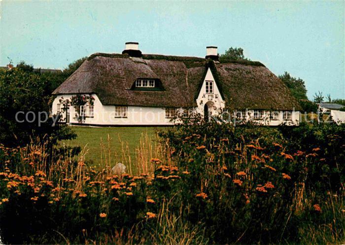 Sylt Reetdachhaus ak ansichtskarte westerland sylt friesenhaus reetdachhaus