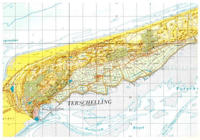 AK / Ansichtskarte Terschelling Topografische Karte Kat. Niederlande