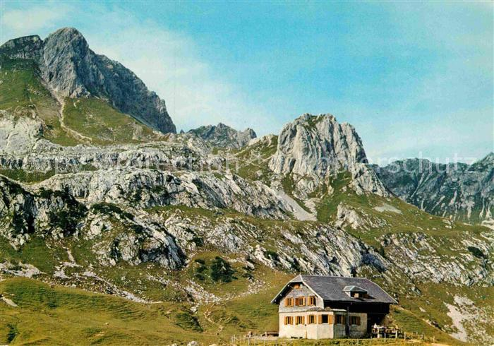 AK / Ansichtskarte Vorarlberg Biberacher Huette Kuenzelspitze Kat. Oesterreich